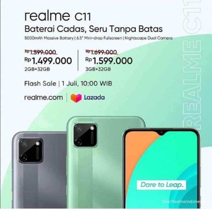 Harga HP Realme C11 resmi dijual mulai Rp 1,499 juta - Rp 1,599 juta