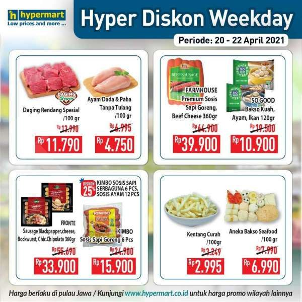 Promo Hypermart weekday 20-22 April 2021