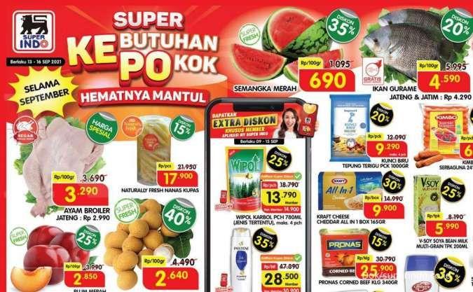 Promo Superindo 13-16 September 2021, diskon dan potongan harga di tengah bulan