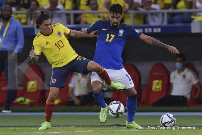 Kualifikasi Piala Dunia 2022 Kolombia vs Brasil: Los Cafeteros tahan 0-0 Selecao