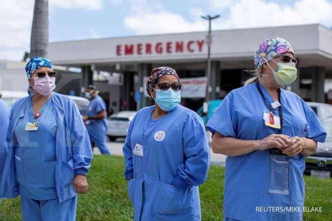 Ini cerita mengenai kecemasan dokter-dokter di Amerika Serikat tentang membludaknya kasus virus corona di sana. REUTERS/Mike Blake