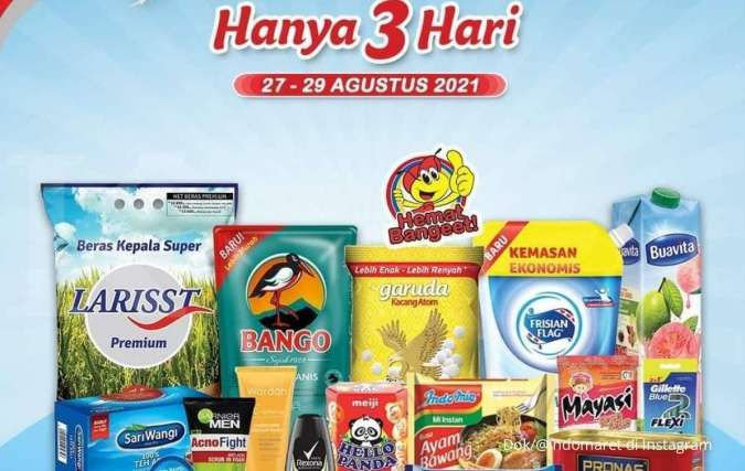 Promo JSM Indomaret hanya 3 hari, promo merdeka menjelang akhir bulan Agustus 2021