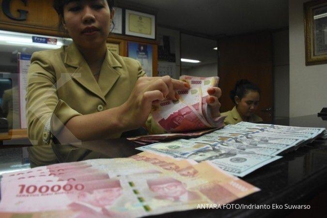 Berbalik arah, rupiah menguat 0,14% ke Rp 14.595 per dolar AS pada tengah hari ini