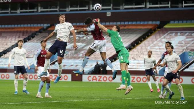 Hasil Liga Inggris antara Aston Villa vs Man City