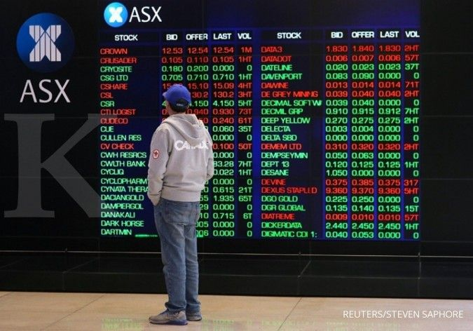Bursa Australia berada pada jalur kenaikan terbesar hampir 3 bulan