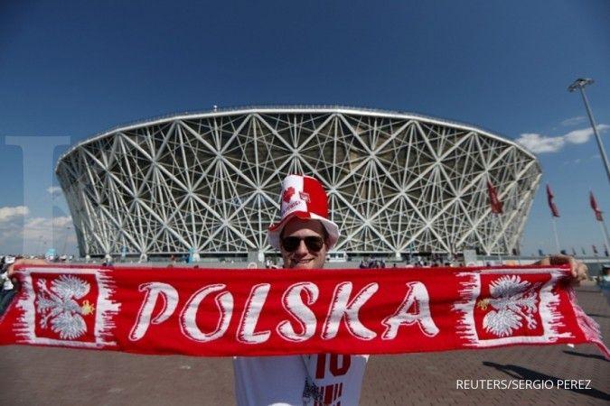 Pendukung tim Polandia