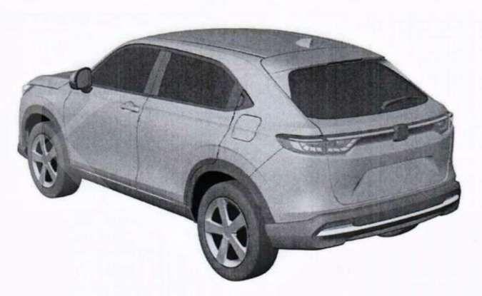 Gambar paten Honda HR-V 2021