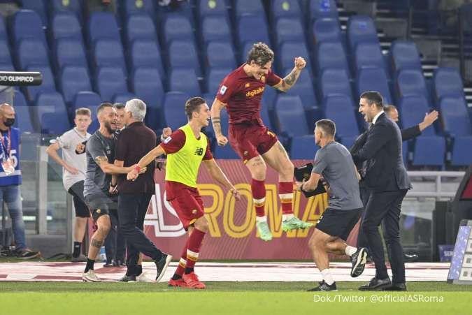 Hasil Liga Italia Serie A AS Roma vs Sassuolo: Giallorossi tekuk Neroverdi 2-1