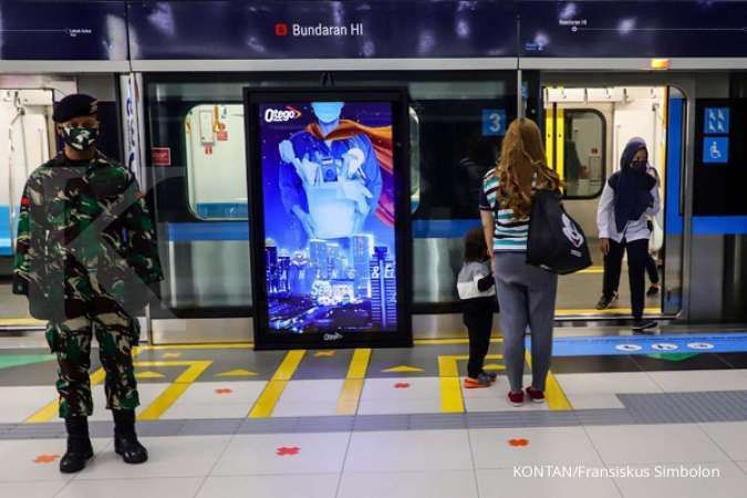 Jadwal MRT Jakarta dan LRT Jakarta Senin 8 Juni 2020 saat PSBB transisi new normal