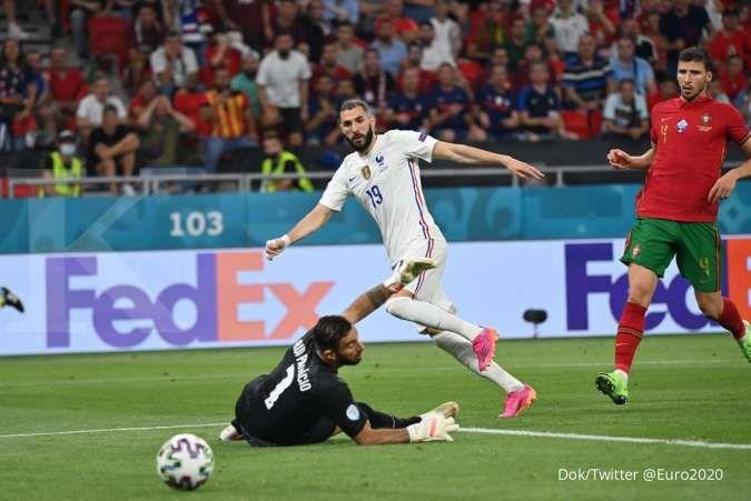 Hasil Euro 2020 Portugal vs Prancis: Selecao tahan dominasi Les Bleus 2-2