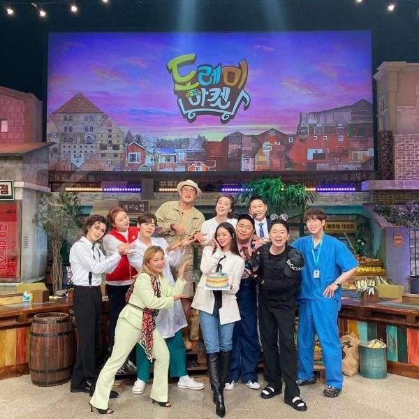 Hyeri Girl's Day bersama member acara Amazing Saturday.