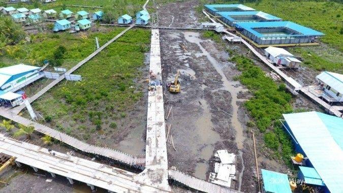 Wijaya Karya (WIKA) menggeber proyek jalan dan jembatan di Distrik Agats Papua Barat