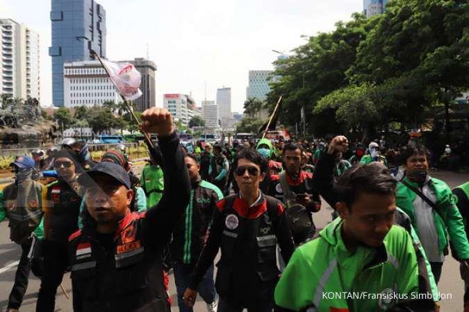Gelar demo di depan Istana, ini tiga tuntutan pengemudi ojek online