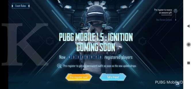 Pra-registrasi PUBG Mobile 1.5 Ignition