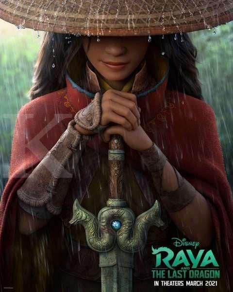 Poster film animasi Disney terbaru, Raya and The Last Dragon dari sutradara Big Hero 6.