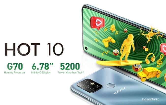 Harga HP Infinix Hot 10 terbaru untuk semua varian hanya Rp 1 jutaan