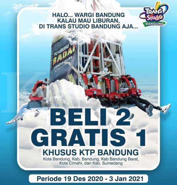 Promo Trans Studio Bandung 19 Desember 2020 – 3 Januari 2021