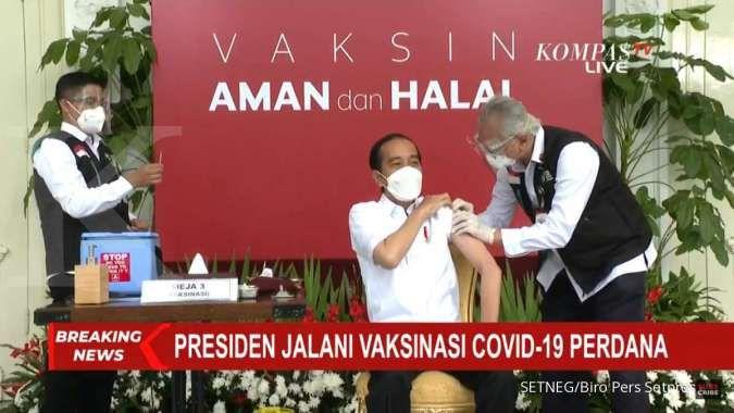 Jokowi dapat suntikan pertama vaksin corona