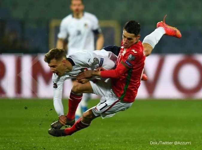 Hasil Kualifikasi Piala Dunia 2022 antara Bulgaria vs Italia