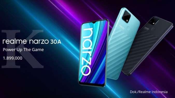 Andalkan chipset gaming kelas entry-level, harga Realme Narzo 30A hanya Rp 1 jutaan