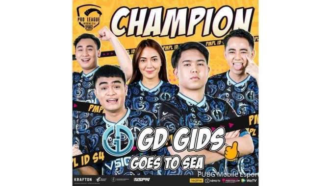 PMPL ID Season 4 catat juara baru, Genesis Dogma GIDS dan 3 tim lainnya maju ke SEA