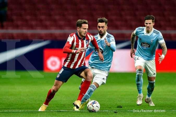 Saul Niguez saat bermain dengan Atletico Madrid, akan ditukar dengan Antoine Griezmann dari Barcelona