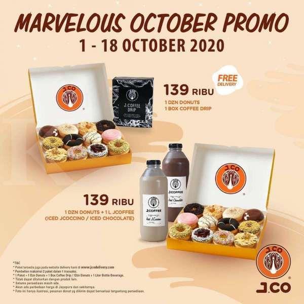Promo J.CO periode 1-18 Oktober 2020
