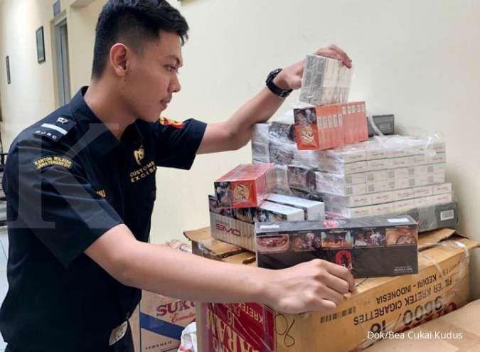 Bea Cukai Kudus tindak peredaran rokok ilegal di Jepara