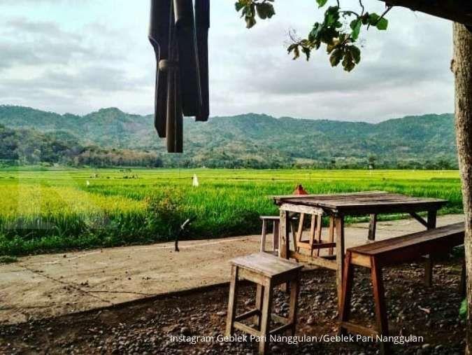 Geblek Pari, tempat makan sekaligus wisata berlatar sawah di Kulon Progo