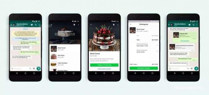Tampilan belanja di Whatsapp lewat chat; Credit: Whastapp