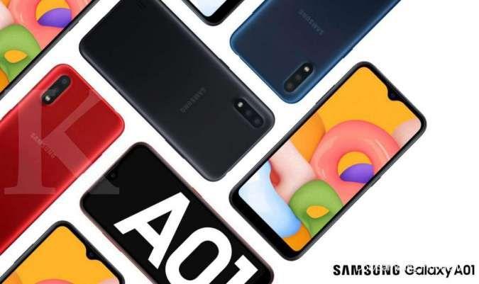 Serba minimalis, ini spesifikasi & harga HP Samsung A01 terbaru