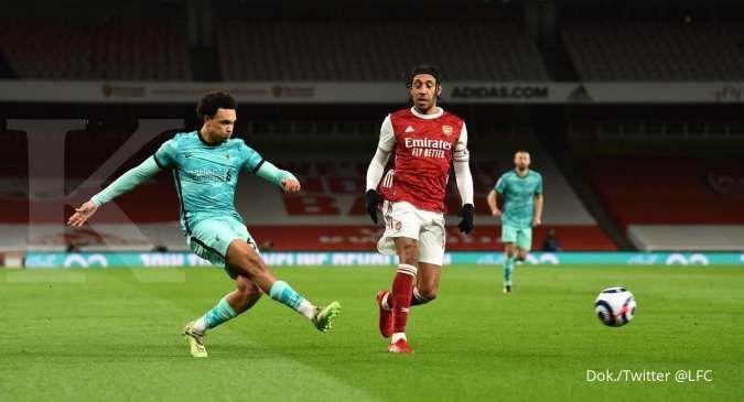 Hasil Liga Inggris antara Arsenal vs Liverpool berakhir dengan skor 0-3