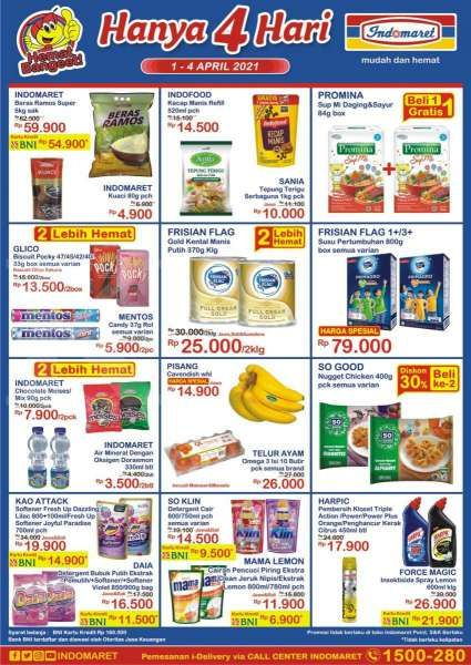 Promo Indomaret Hanya 4 Hari 1- 4 April 2021