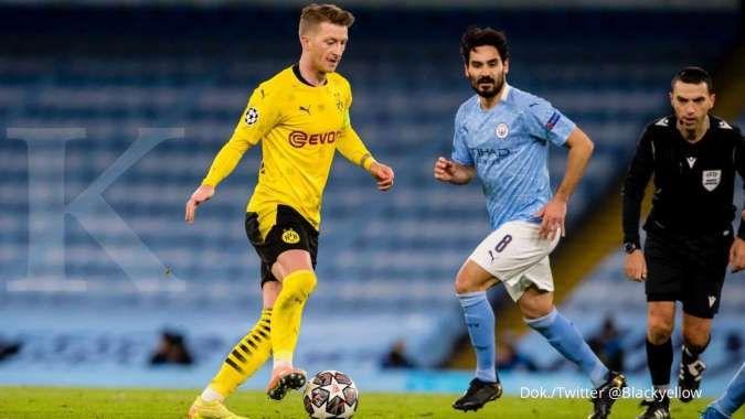 Hasil laga Man City vs Borussia Dortmund di Liga Champions