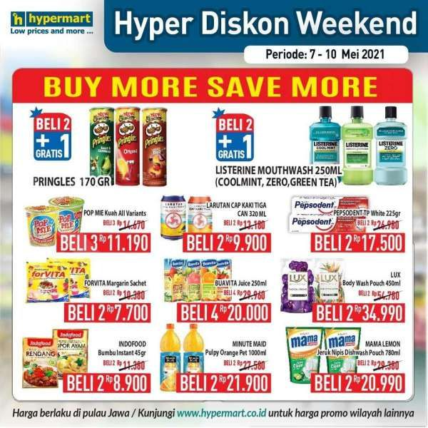 Simak promo Hypermart weekday 10 Mei 2021, ada diskonan hari kerja!