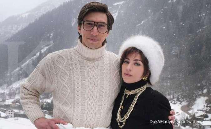 Tayang 2021, Lady Gaga dan Adam Driver tampil di foto pertama film House of Gucci