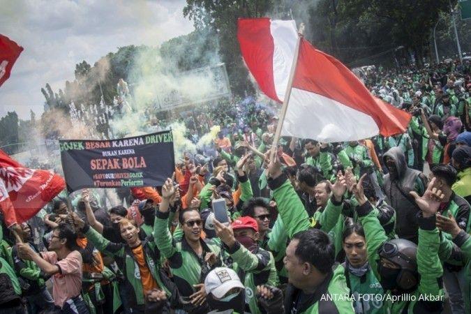 Merasa dihina, ratusan driver ojek online datangi Konjen Malaysia di Medan
