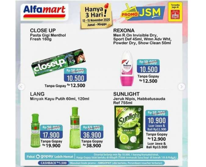 Katalog Promo Jsm Alfamart Terbaru Jumat 13 November 2020 Minyak Goreng Beras Dan Pampers Murah Tribun Kaltim