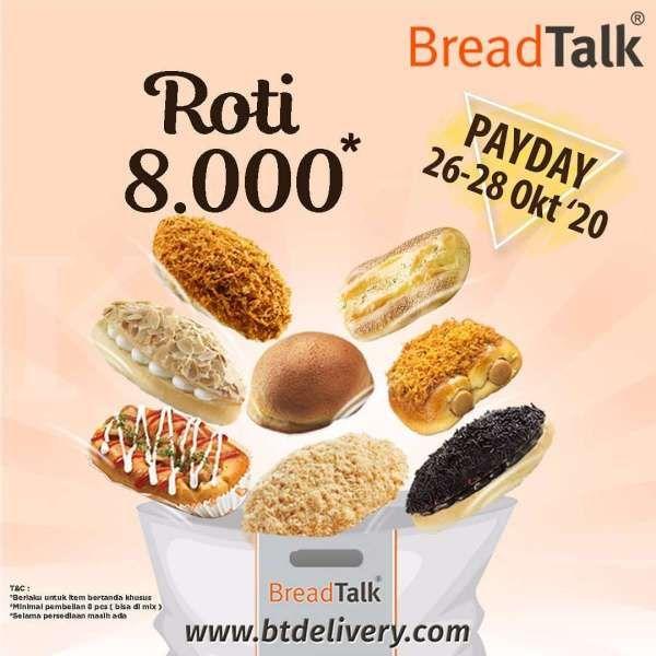 Promo BreadTalk periode 26-28 Oktober 2020