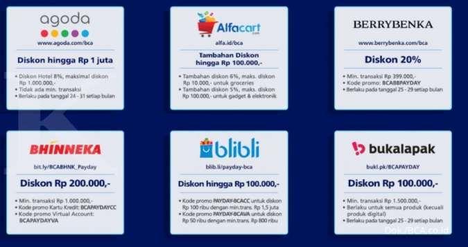 Promo Kartu Kredit Bca E Payday Diskon Hingga 50 Sampai 29 November