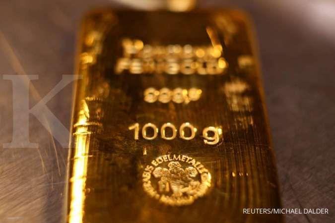 Harga emas spot koreksi 1,6% di pekan lalu, terseret pembicaraan stimulus yang mandek