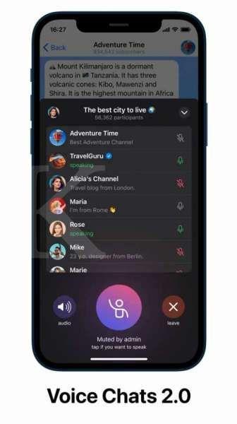 Voice Chats 2.0 - Telegram