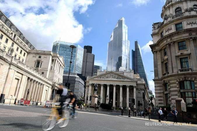 Suasana sepi distrik keuangan di London selama masa pandemi. 4 September 2020. REUTERS/Toby Melville