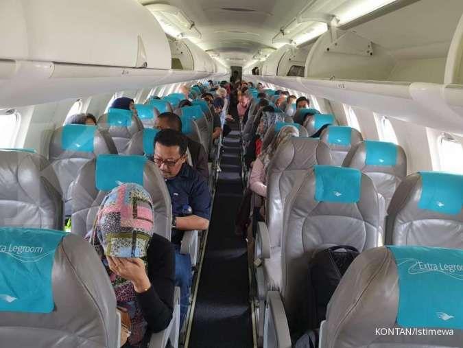 Garuda tujuan Soetta mendarat darurat di Halim, penumpang tak boleh keluar pesawat