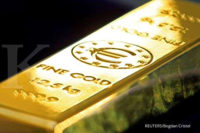 Harga emas mendekati level tertinggi 8 minggu pada Kamis (22/4)