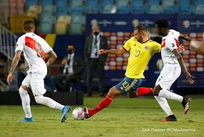 Hasil Copa America 2021 antara Kolombia vs Peru di Grup A berakhir 1-2