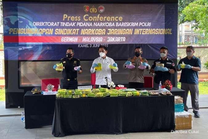 Bea Cukai-Polri gagalkan penyelundupan 45 Kg sabu dan 13.865 butir ekstasi