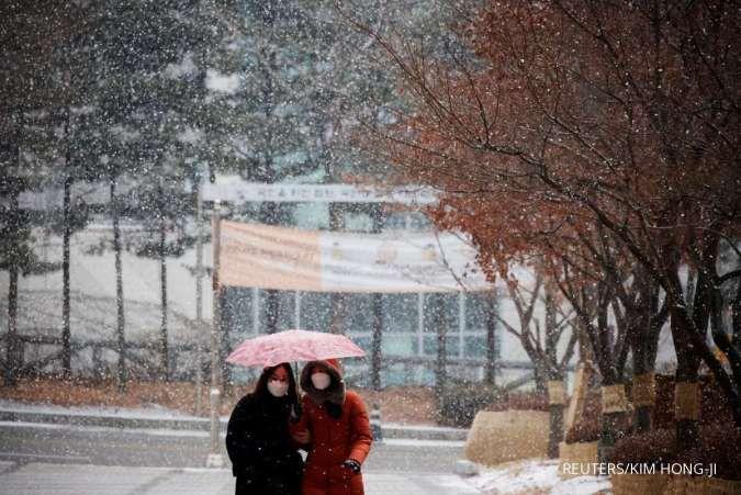 Hujan salju di Seoul