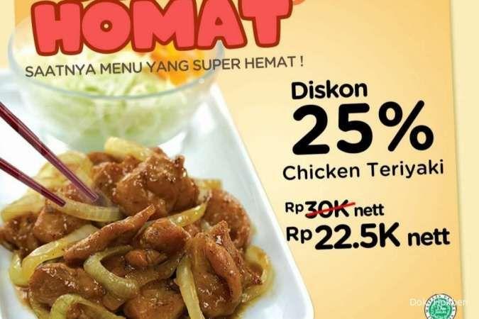 Promo Hokben 18 Oktober 2021, Senin Homat Chicken Teriyaki Rp 22.500