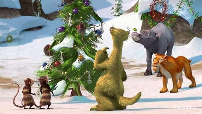 Film Ice Age: A Mammoth Christmas di di Disney+ Hotstar Indonesia.